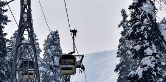 Sciare a Gulmarg Kashmir in India