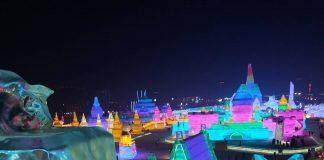 Sciare a Harbin in Cina