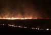 L'incendio scoppiato tra Sassotetto e Pintura di Bolognola