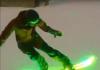 La tavola da Snowboard con i led