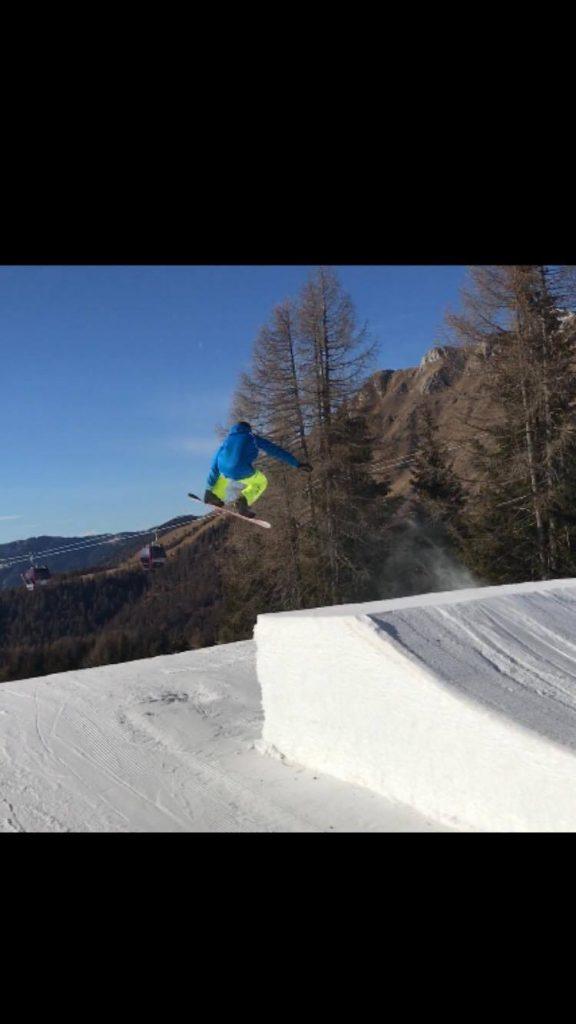 Il jump di Manuel Contigiani - snowpark di Moena - Trentino Alto Adige