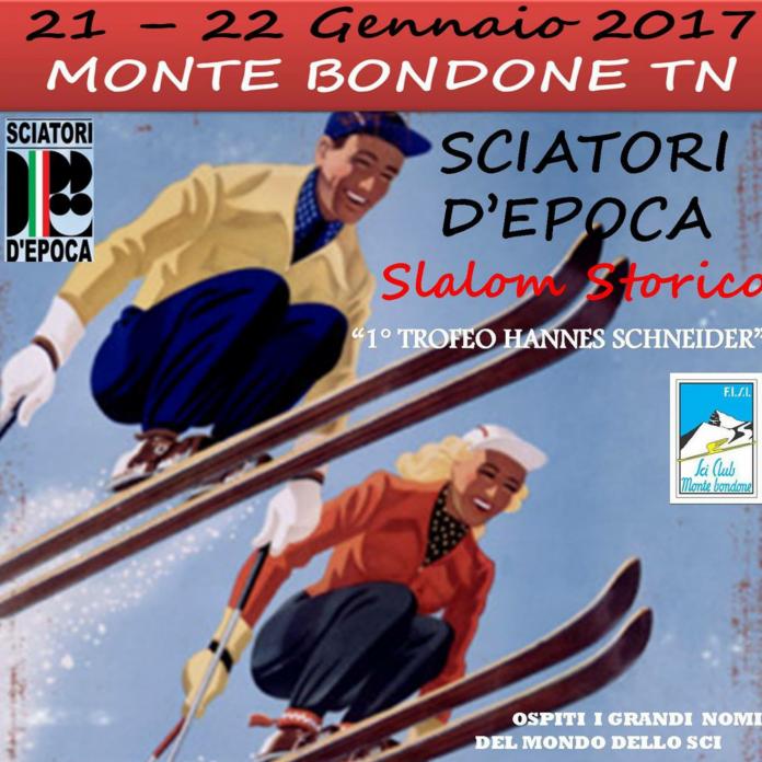 Monte Bondone - Trentino - slalom storico con sciatori d'epoca 2017 - Credits Sciatori d'Epoca Monte Bondone