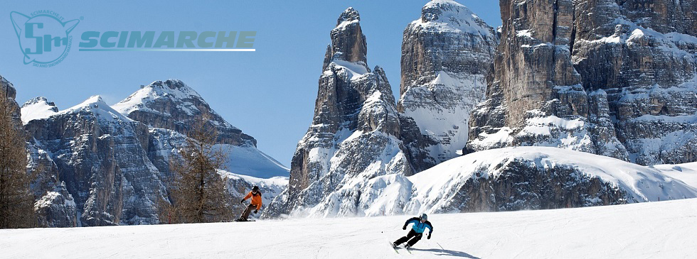 Piste da sci in Alta Badia - Trentino Alto Adige