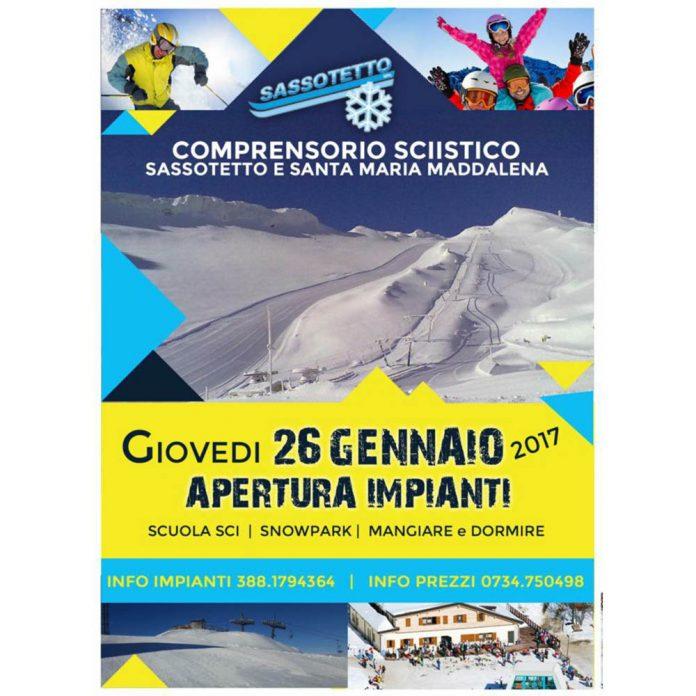 Skiarea Sarnano (Sassotetto - Santa Maria Maddalena) apertura impianti 2017