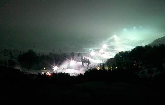Sci in notturna all'Eremo Monte Carpegna