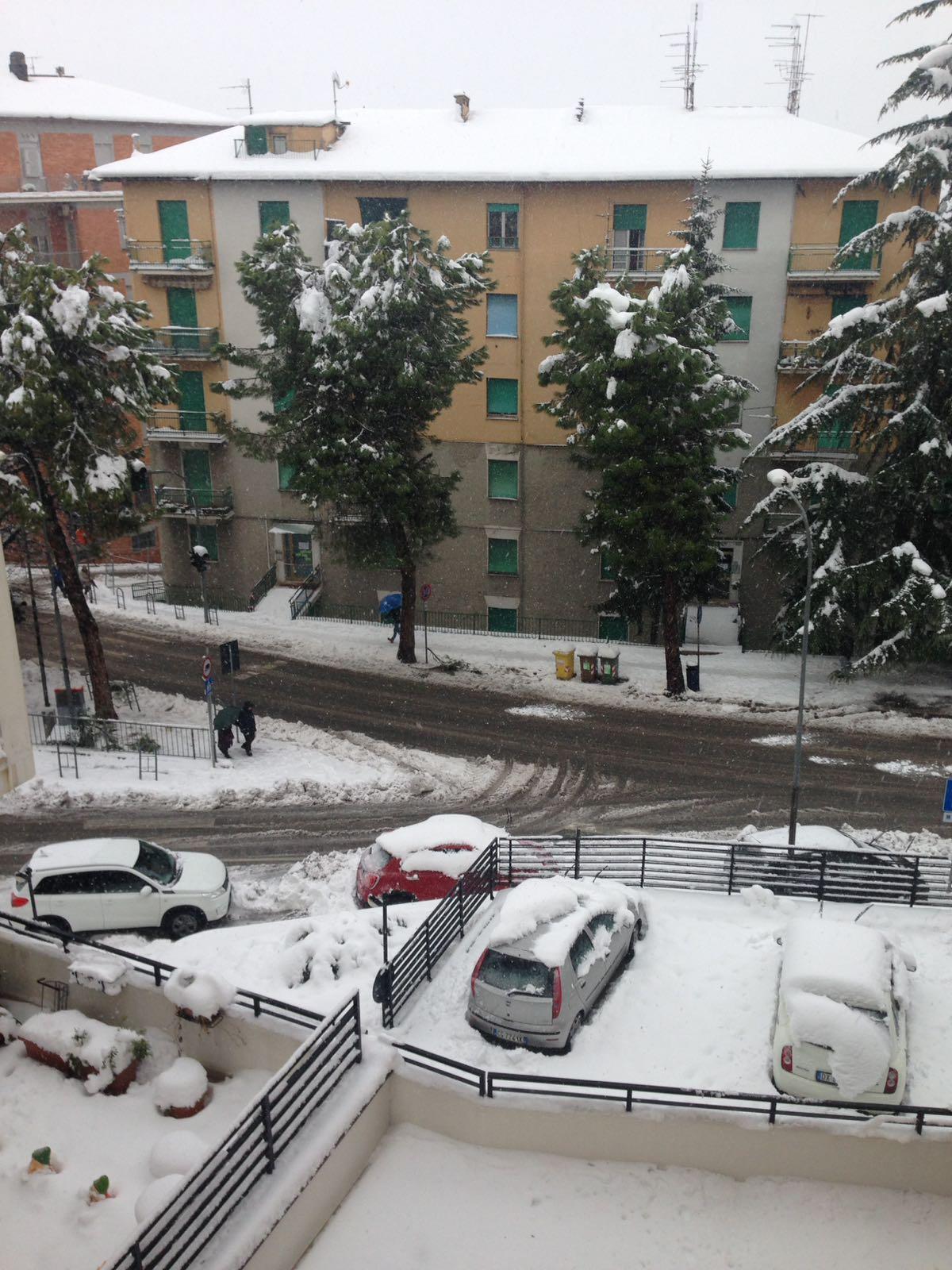 Situazione neve Macerata
