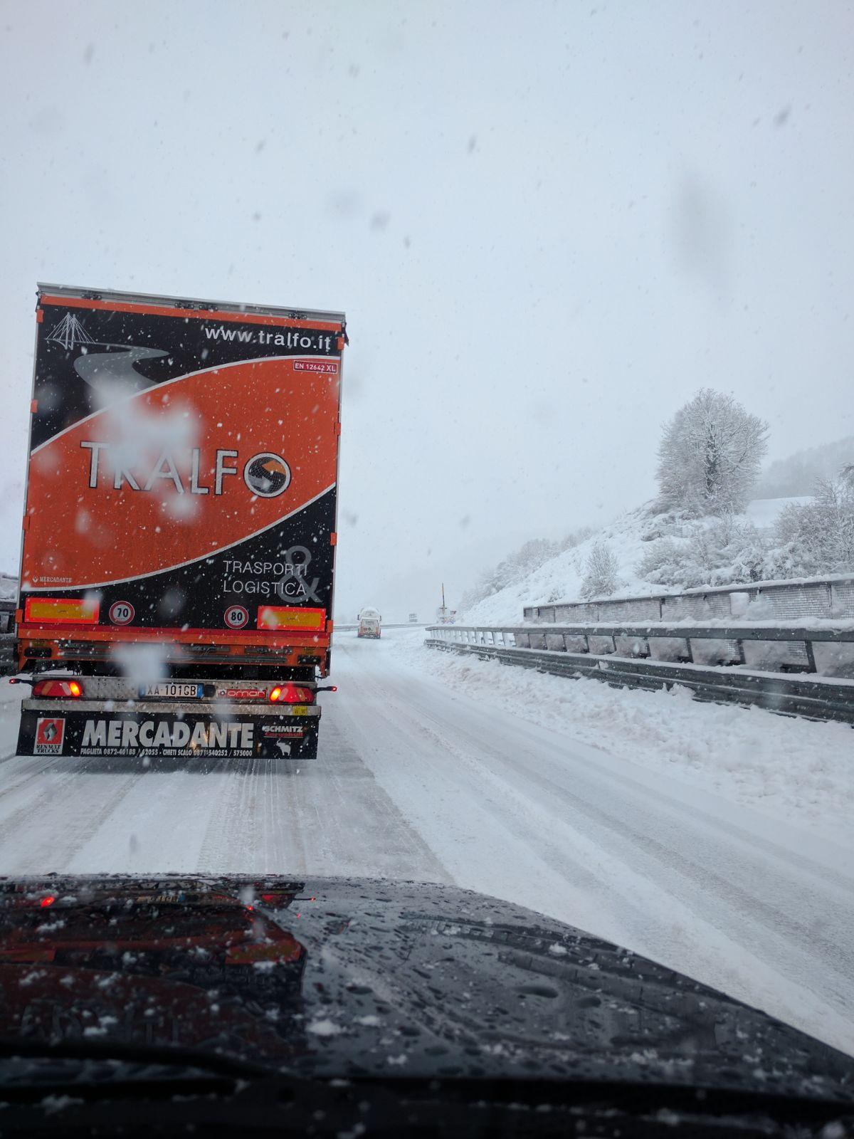 Situazione neve - Sfercia - Camerino