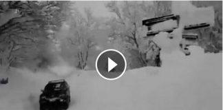 Situazione neve Vallegrascia di Montemonaco - Ascoli Piceno - Marche