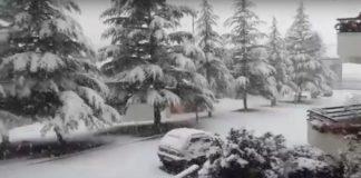 Video della nevicata a Pioraco