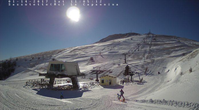 La webcam della stazione sciistica di Sarnano - Sassotetto in provincia di Macerata - Marche