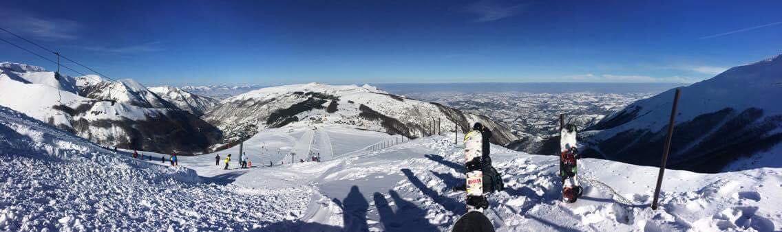 Panoramica della Ski area di Bolognola - Credits Bolognolaski