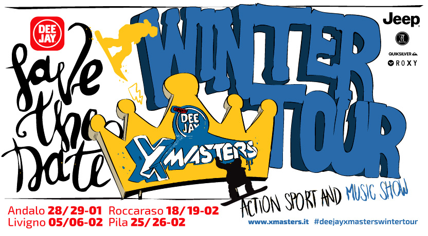 L'evento Deejay Xmasters Winter Tour 2017