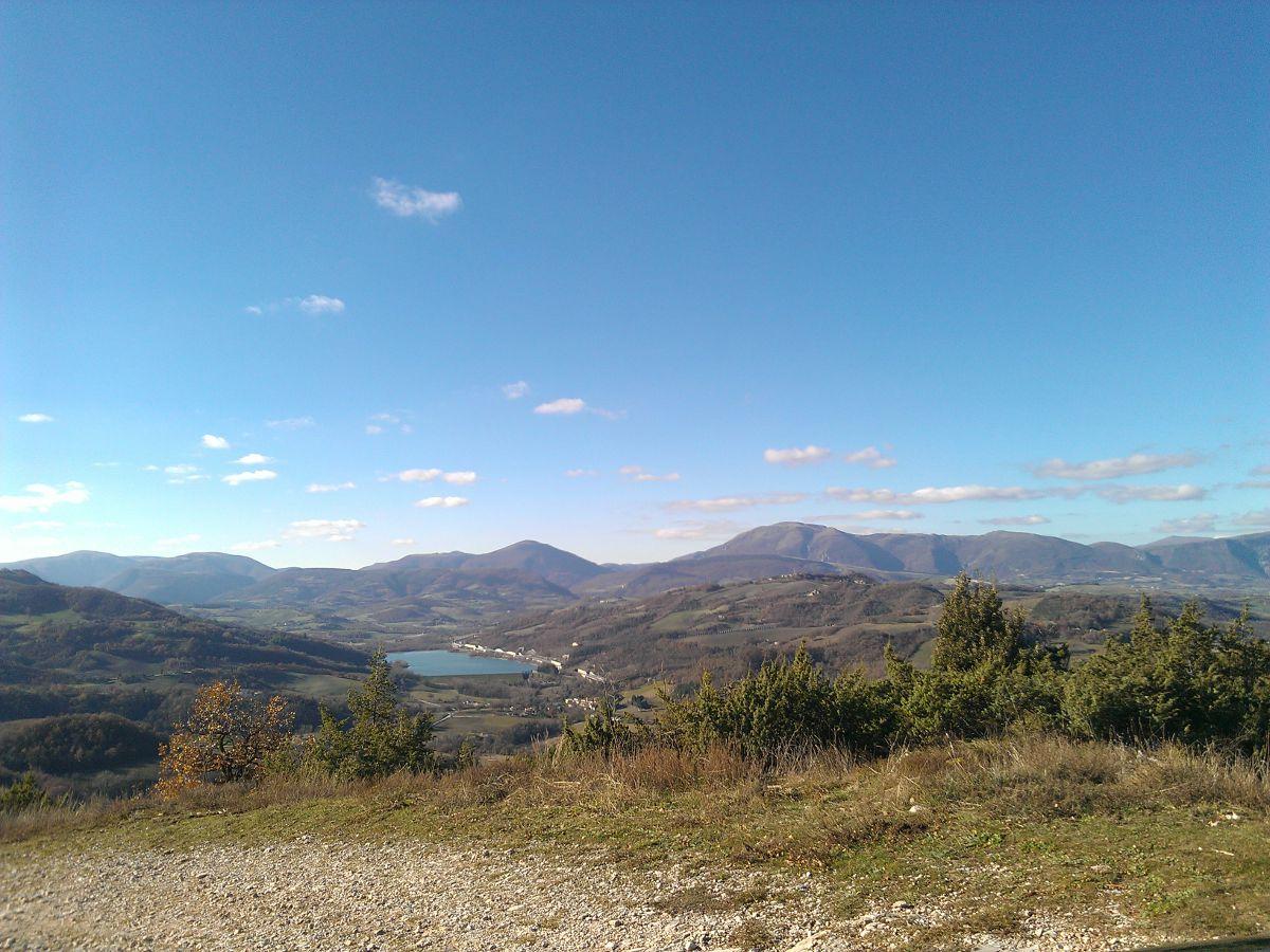Il panorama con vista lago di Polverina