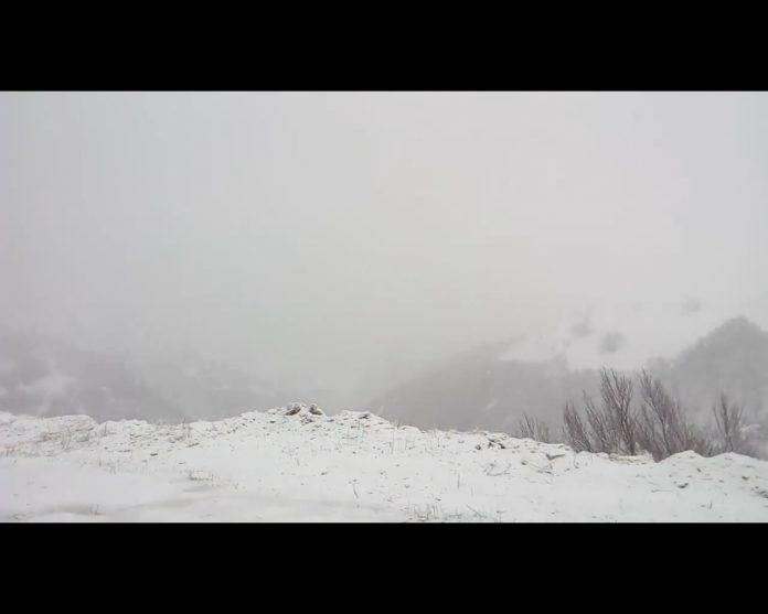 La nevicata live a Sassotetto Sarnano in provincia di Macerata - video di Andrea Valori - Hotel Sibilla