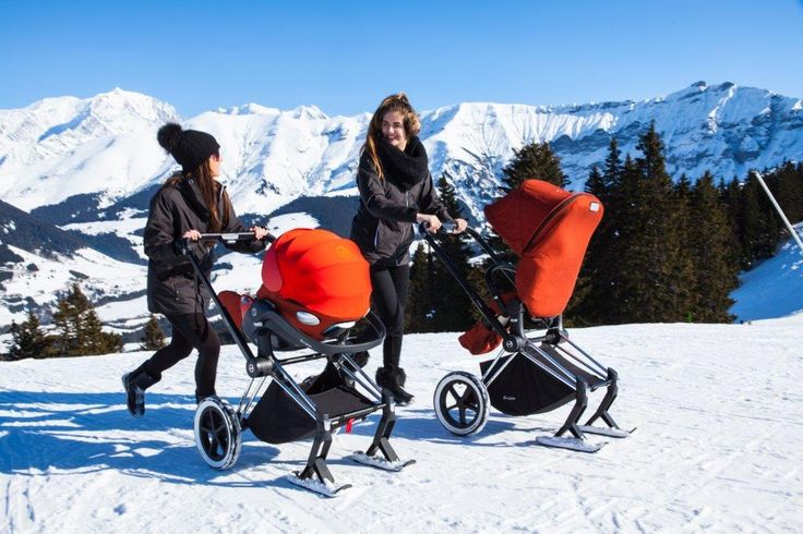 Il Passeggino Cybex Priam Skis Con Gli Sci Il Must Have