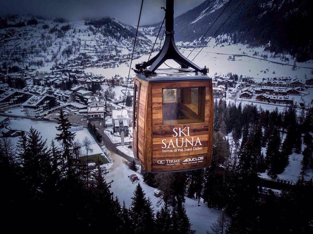 La ski sauna a La Thuile - Credits La Thuille - Valle d'Aosta