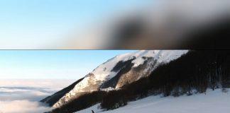Snowpark Bolognola, visto dal drone