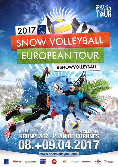 Snow Volleyball european tour 2017, l'ultima tappa a Plan de Corones
