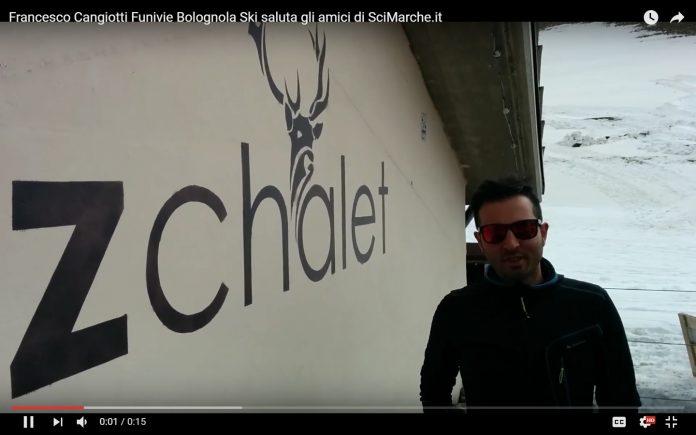 Francesco Cangiotti Funivie Bolognola Ski saluta gli amici di SciMarche.it