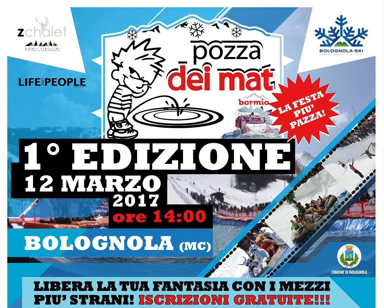 Locandina evento Pozza dei Mat a Bolognola