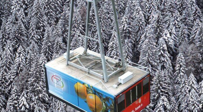 La funivia Snow Eagle nella ski area di Alpe Palù - Chiesa in Val Malenco (SO)