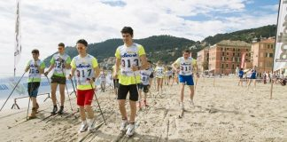 A Laigueglia l'evento Sci di fondo on the beach 2017