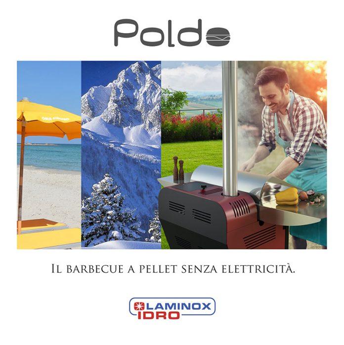 Barbecue a pellet senza elettricità - Laminox, modello Poldo