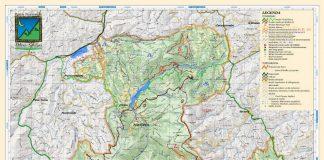 La cartina del Parco nazionale dei Monti Sibillini