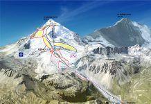 Ski area Tignes, sci estivo in Francia