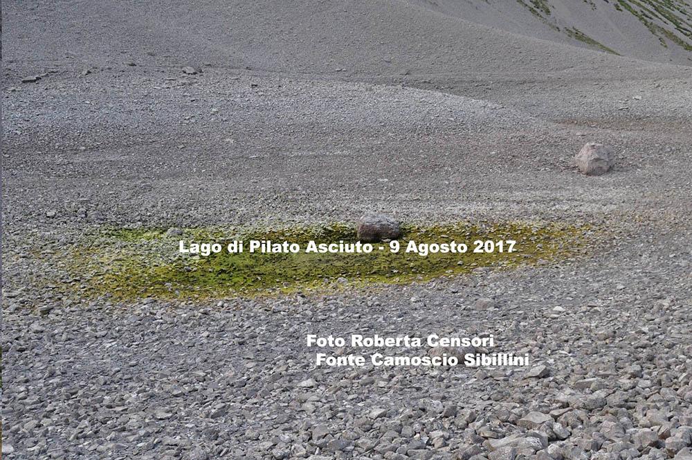 Lago di Pilato evaporato a causa del caldo