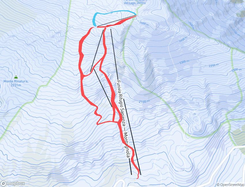 Le piste da sci e gli impianti a Nicolosi - Etna Sud