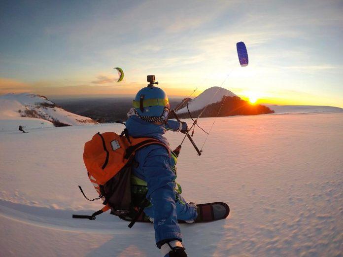 Dove praticare lo snowkite nelle Marche - Credits Michele Talamonti