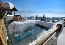 Centri benessere con piscine riscaldate sulla neve