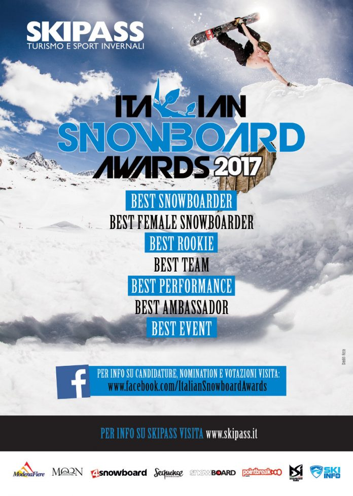 Fiera Skipass 2017, categorie in gara agli Italian Snowboard Awards