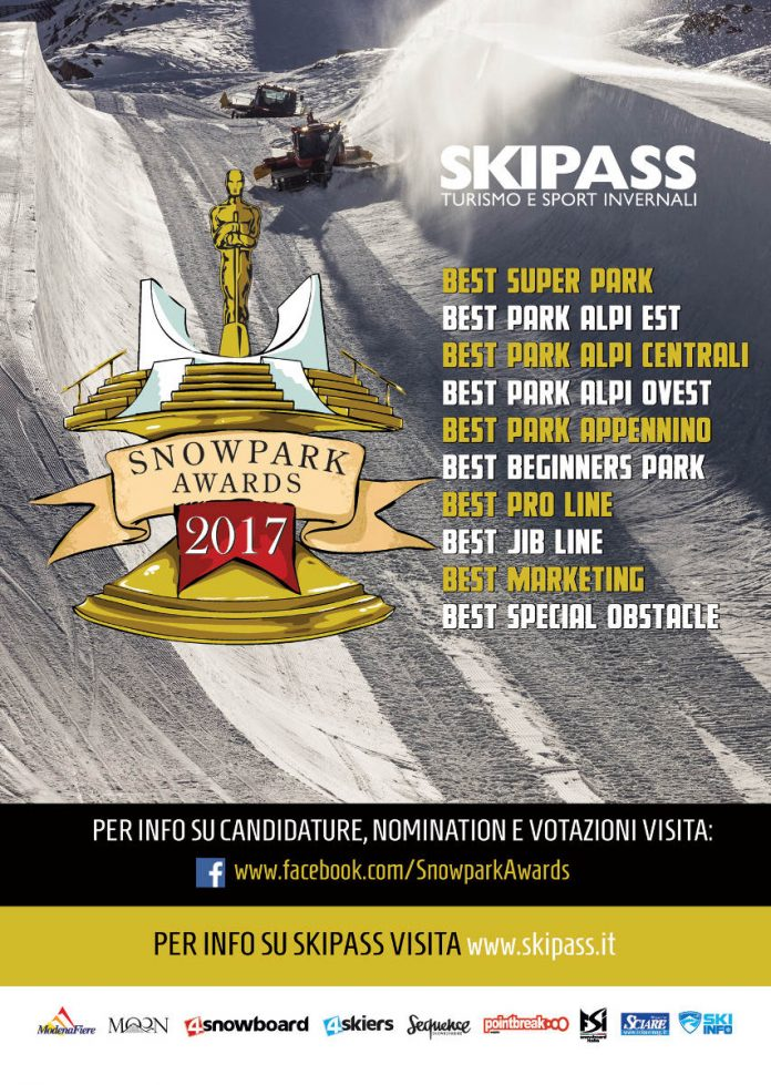 Fiera Skipass 2017, categorie in gara agli Snowpark Awards