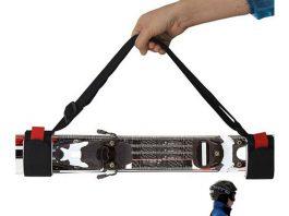 Portasci da spalla per trasportare a mani libere gli sci