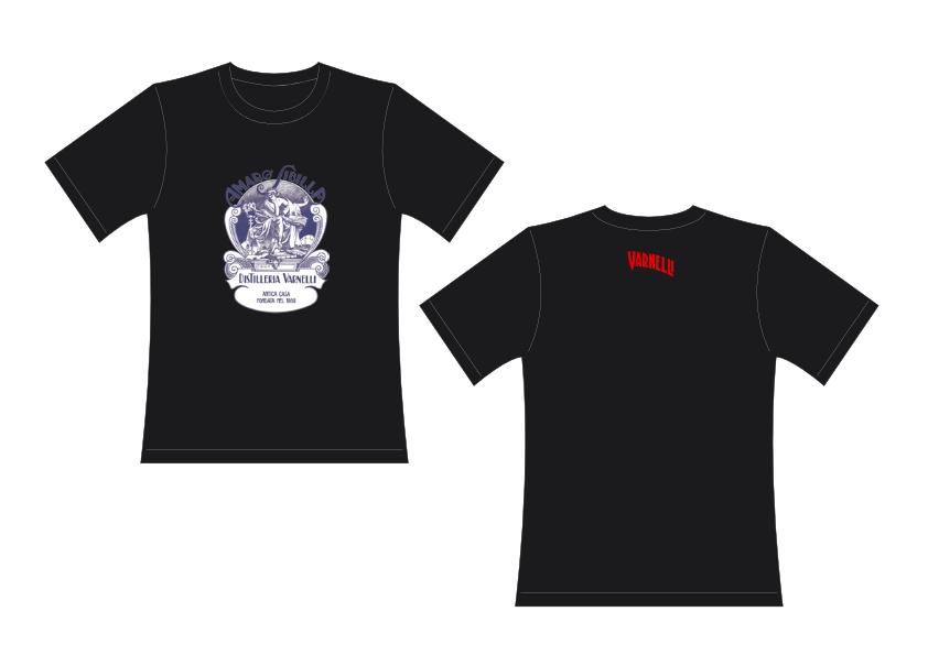 L'originale maglia tshirt con il logo dello storico prodotto Amaro Sibilla Varnelli.
