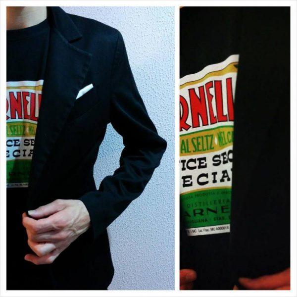 L'originale maglia tshirt con l'etichetta dello storico prodotto Varnelli