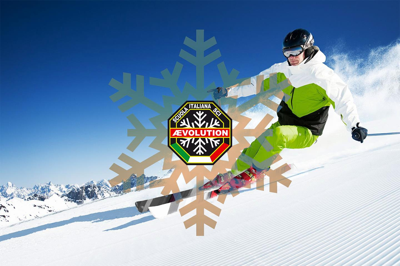 Un maestro di sci dell'AEevolution ski school di Folgarida