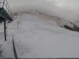 Monti Sibillini, il video della prima neve a Sassotetto e Bolognola