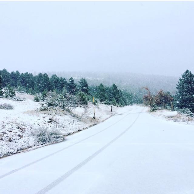 Prima neve anche a Frontignano - credits Michela Paris