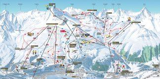 Cartina Sankt Moritz - Mappa delle piste di Sankt Moritz