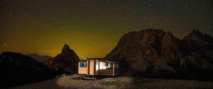 Starlight Room Dolomites, dormire sotto le stelle - Credits Rifugio Col Gallina