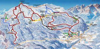 Cartina impianti e piste Paganellaski