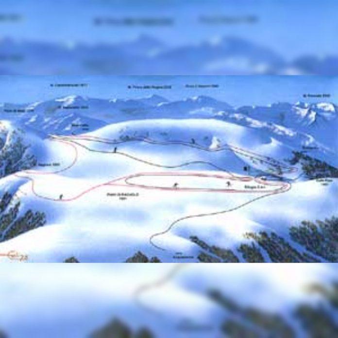 cartina impianti e piste Acquacanina - Piani di Ragnolo