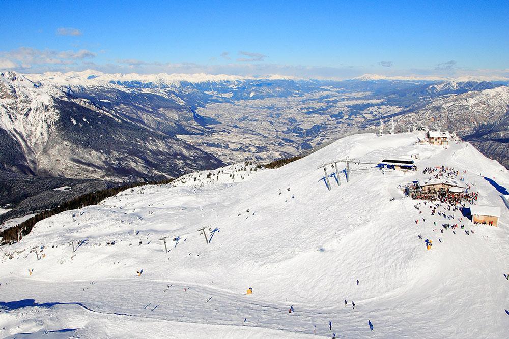 Panorama Paganella ski