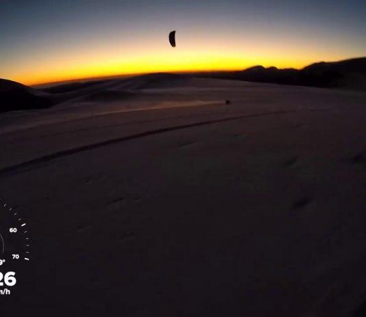 Snowkite all'alba ai Piani di Ragnolo