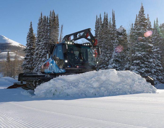 battitura piste sci