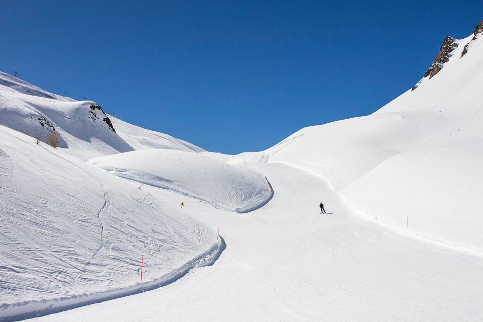 Una delle piste da sci a San Domenico