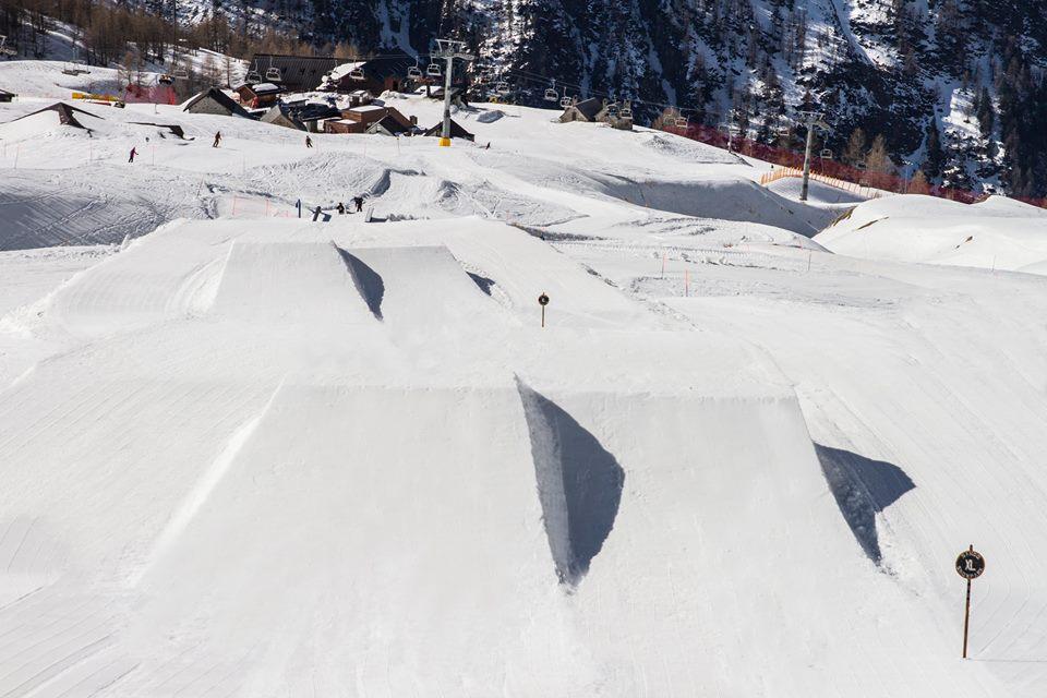 Sando lo snowpark di San Domenico di Varzo
